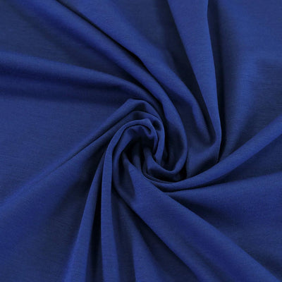 Venice Royal Blue Ponte de Roma Stretch Fabric Detail Swirl Image from Patternsandplains.com
