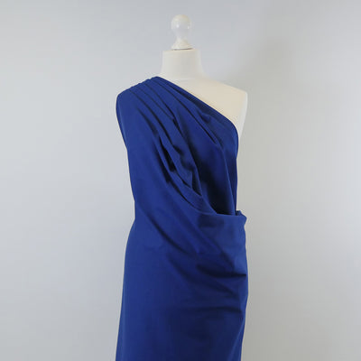 Venice Royal Blue Ponte de Roma Stretch Fabric Mannequin Wide Image from Patternsandplains.com