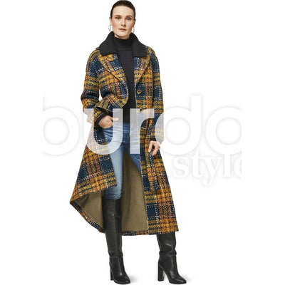 Burda Style Pattern B6462 Womenss Fur Collar Coat 6462 Image 2 From Patternsandplains.com