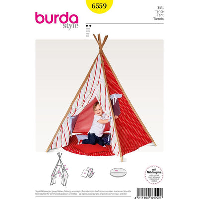 Burda Style Pattern B6559 Tipi Tent 6559 Image 1 From Patternsandplains.com