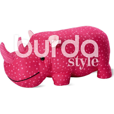 Burda Style Pattern B6560 Stuffed Hippo or Rhino 6560 Image 3 From Patternsandplains.com