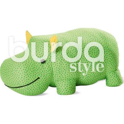 Burda Style Pattern B6560 Stuffed Hippo or Rhino 6560 Image 4 From Patternsandplains.com