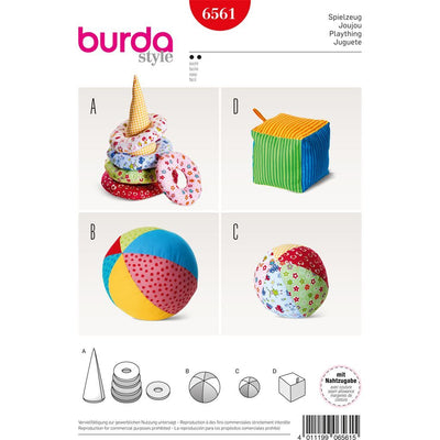 Burda Style Pattern B6561 Baby Play Toys 6561 Image 1 From Patternsandplains.com