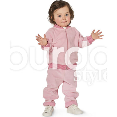 Burda Style Pattern B9349 Babys Jogging Suit 9349 Image 5 From Patternsandplains.com