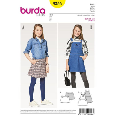 Burda Style Pattern B9356 Girl Girl Plus Skirt 9356 Image 1 From Patternsandplains.com