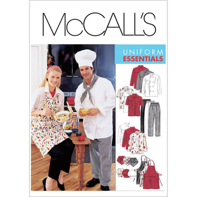 McCall's Pattern M2233 Misses and Mens Jacket Shirt Apron Pull On Pants Neckerchief and Hat 2233 Image 1 From Patternsandplains.com