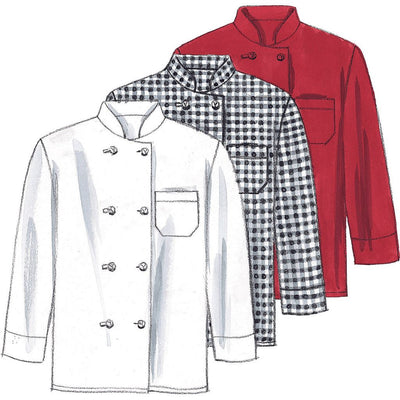 McCall's Pattern M2233 Misses and Mens Jacket Shirt Apron Pull On Pants Neckerchief and Hat 2233 Image 4 From Patternsandplains.com.jpg