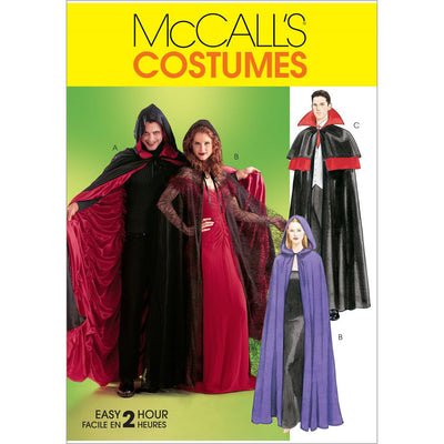 McCall's Pattern M4139 Misses Mens Teen Boys Lined and Unlined Cape Costumes 4139 Image 1 From Patternsandplains.com