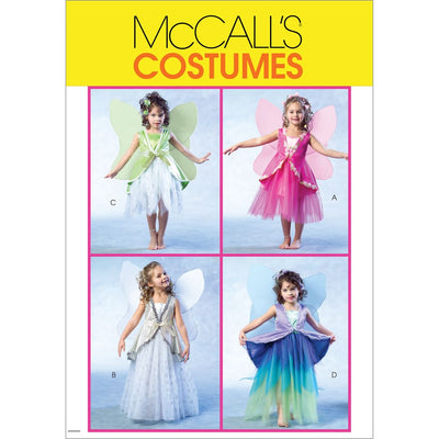 McCall's Pattern M4887 Childrens Girls Fairy Costumes 4887 Image 1 From Patternsandplains.com