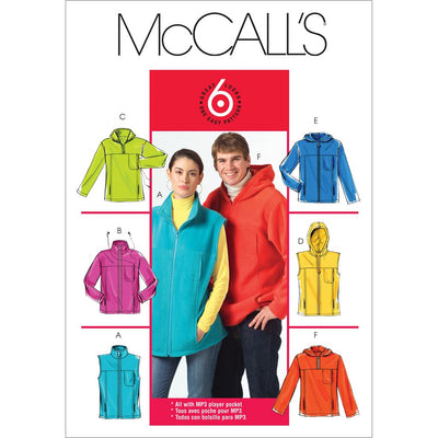 McCall's Pattern M5252 Misses Mens Unlined Vest and Jackets 5252 Image 1 From Patternsandplains.com