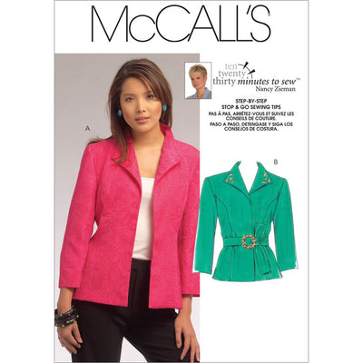 McCall's Pattern M5668 Misses Jackets 5668 Image 1 From Patternsandplains.com