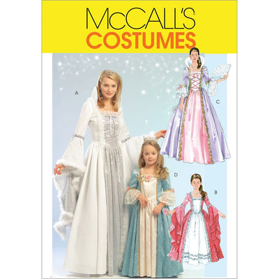McCall's Pattern M5731 Misses Childrens Girls Princess Costumes 5731 Image 1 From Patternsandplains.com