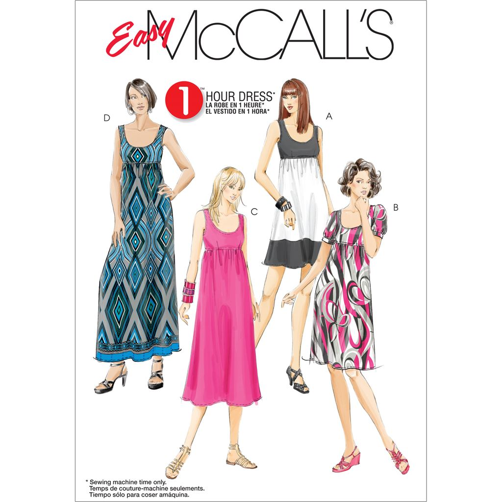 McCall's Pattern M5893 Misses Womens Dresses In 4 Lengths 5893 Image 1 From Patternsandplains.com