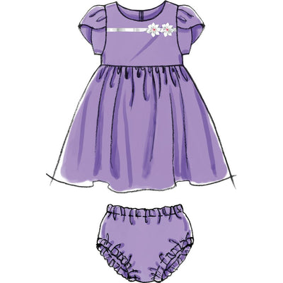 McCall's Pattern M6015 Infants Lined Dresses Panties And Headband 6015 Image 6 From Patternsandplains.com.jpg