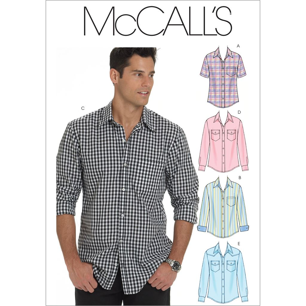 McCall's Pattern M6044 Mens Shirts 6044 Image 1 From Patternsandplains.com