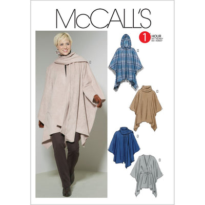 McCall's Pattern M6209 Misses Ponchos and Belt 6209 Image 1 From Patternsandplains.com