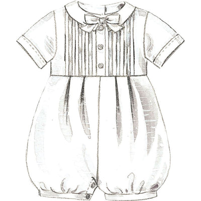 McCall's Pattern M6221 Infants Christening Gown Rompers With Snap Crotch In 2 Lengths and Bonnets 6221 Image 9 From Patternsandplains.com.jpg