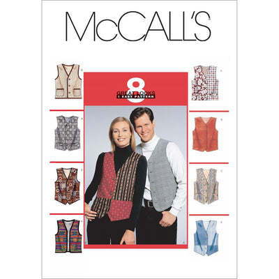 McCall's Pattern M6228 Misses Mens Lined Vests 6228 Image 1 From Patternsandplains.com