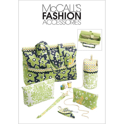 McCall's Pattern M6256 Project Tote Organizer Knitting Needle Scissor Cases And Yarn Holder 6256 Image 1 From Patternsandplains.com