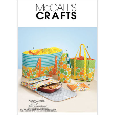 McCall's Pattern M6338 Carriers Hot Pad and Picnic Totes 6338 Image 1 From Patternsandplains.com