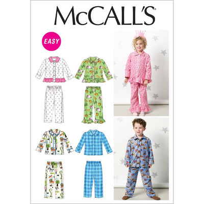 McCall's Pattern M6458 Toddlers Childrens Tops and Pants 6458 Image 1 From Patternsandplains.com