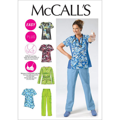 McCall's Pattern M6473 Misses Womens Tops and Pants 6473 Image 1 From Patternsandplains.com