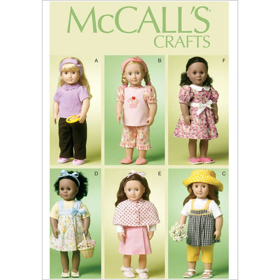 McCall's Pattern M6526 18 (46cm) Doll Clothes 6526 Image 1 From Patternsandplains.com