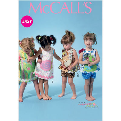 McCall's Pattern M6541 Infants Top Dress Shorts and Appliqu and eacute;s 6541 Image 1 From Patternsandplains.com