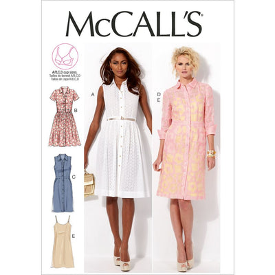 McCall's Pattern M6696 Misses Dresses and Slip 6696 Image 1 From Patternsandplains.com