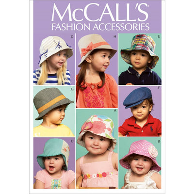 McCall's Pattern M6762 Infants Toddlers Hats 6762 Image 1 From Patternsandplains.com