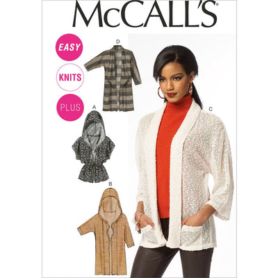 McCall's Pattern M6802 Misses Womens Cardigans 6802 Image 1 From Patternsandplains.com