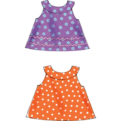 McCall's Pattern M6912 Infants Reversible Top Dresses; Bloomers and Pants 6912 Image 7 From Patternsandplains.com.jpg