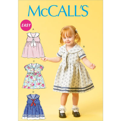 McCall's Pattern M6913 Toddlers Dresses and Tie Ends 6913 Image 1 From Patternsandplains.com