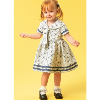 McCall's Pattern M6913 Toddlers Dresses and Tie Ends 6913 Image 2 From Patternsandplains.com.jpg