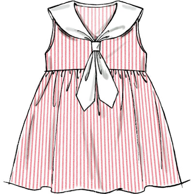 McCall's Pattern M6913 Toddlers Dresses and Tie Ends 6913 Image 3 From Patternsandplains.com.jpg