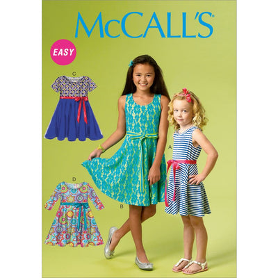 McCall's Pattern M6915 Chidrens Girls Dresses 6915 Image 1 From Patternsandplains.com