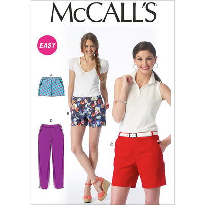 McCall's Pattern M6930 Misses Shorts and Pants 6930 Image 1 From Patternsandplains.com