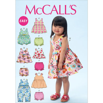 McCall's Pattern M6944 Toddlers Top Dresses Rompers and Panties 6944 Image 1 From Patternsandplains.com