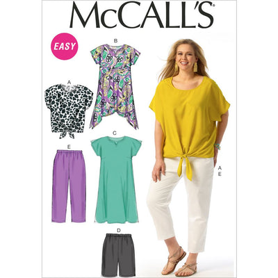 McCall's Pattern M6971 Womens Top Tunic Dress Shorts and Pants 6971 Image 1 From Patternsandplains.com