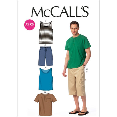McCall's Pattern M6973 Mens Tank Tops T Shirts and Shorts 6973 Image 1 From Patternsandplains.com