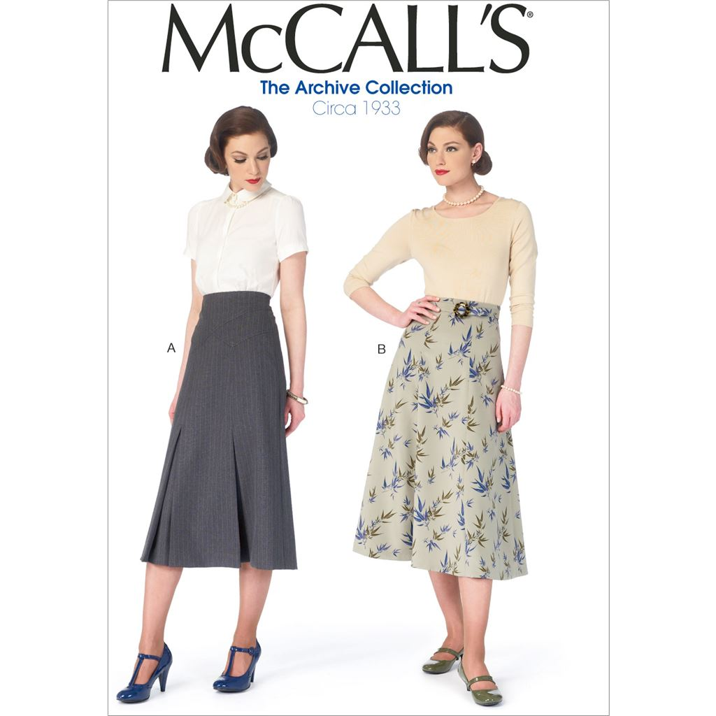 McCall's Pattern M6993 Misses Skirts and Belt 6993 Image 1 From Patternsandplains.com