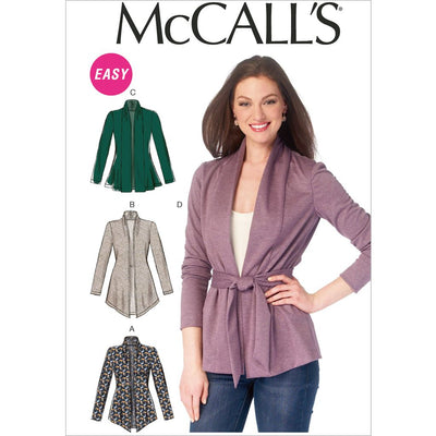 McCall's Pattern M6996 Misses Jackets and Belt 6996 Image 1 From Patternsandplains.com