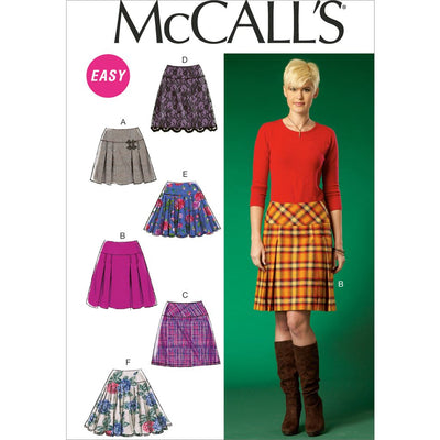 McCall's Pattern M7022 Misses Skirts 7022 Image 1 From Patternsandplains.com