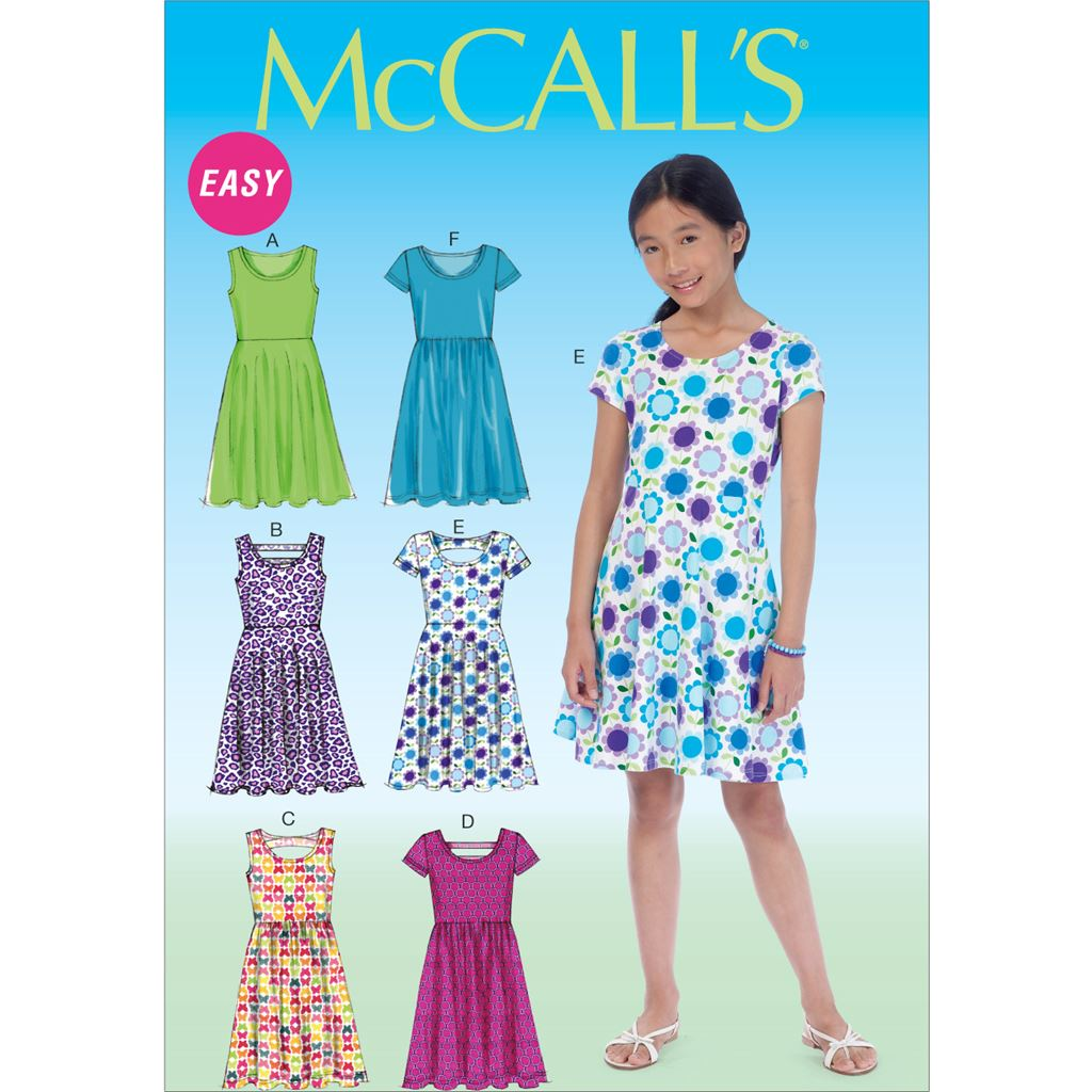 McCall's Pattern M7079 Girls Girls Plus Dresses 7079 Image 1 From Patternsandplains.com