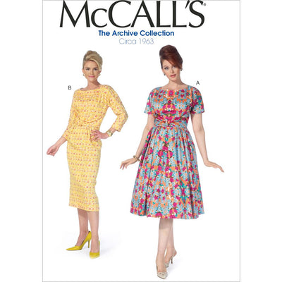 McCall's Pattern M7086 Misses Womens Dresses 7086 Image 1 From Patternsandplains.com