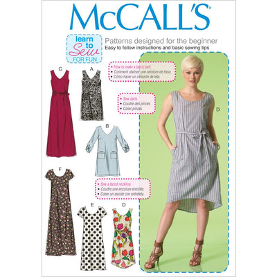 McCall's Pattern M7120 Misses Dresses and Belt 7120 Image 1 From Patternsandplains.com
