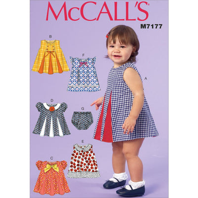 McCall's Pattern M7177 Infants Dresses and Panties 7177 Image 1 From Patternsandplains.com