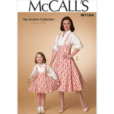 McCall's Pattern M7184 Misses Childrens Girls Top and Jumper 7184 Image 1 From Patternsandplains.com