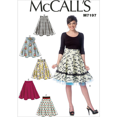 McCall's Pattern M7197 Misses Skirts 7197 Image 1 From Patternsandplains.com