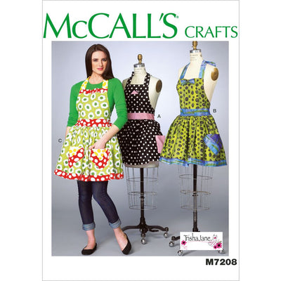 McCall's Pattern M7208 Misses Aprons and Petticoat 7208 Image 1 From Patternsandplains.com
